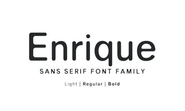 Enrique Sans Serif Font Family