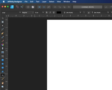 Affinity Designer Select Artistic Text Tool