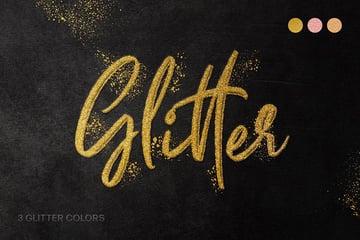 Envato Elements Text Effect Glitter
