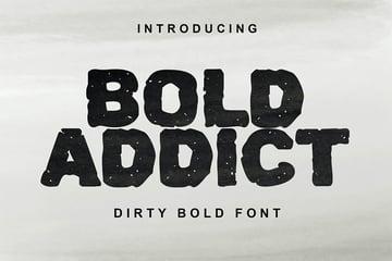 Bold Letter Font Bold Addict