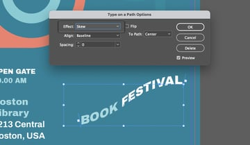 InDesign Type on a Path Tool Effects