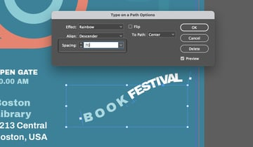 InDesign Type on a Path Option Spacing