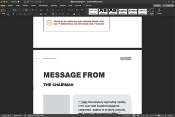Annual Report Navigate Through Document