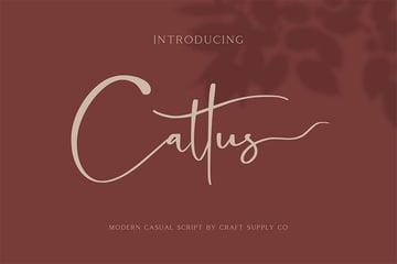 Cattus - Silhouette Cursive Fonts
