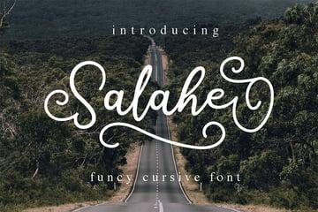 Salahe - Cursive Font for Silhouette