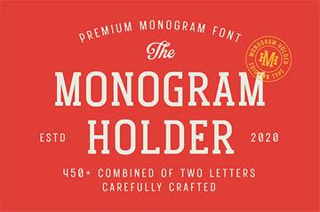 Monogram Silhouette Script Font