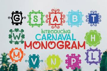 Carnaval - Silhouette Monogram Font