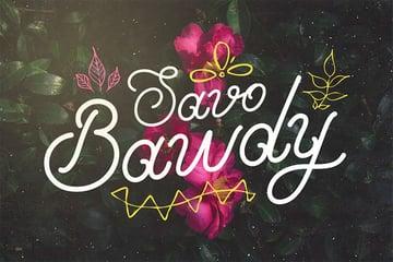 Savo Bawdy - Silhouette Cursive Font