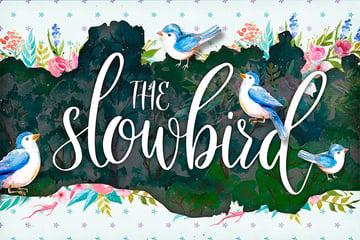 The Slowbird - Silhouette Cursive Font