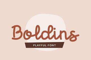 Boldins - Silouette Crusive Font