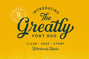 Greatly Silhouette Cursive Font