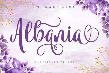Albania (Popular Handwriting Fonts)