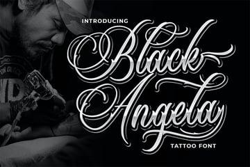 Black Angela (Popular Script Fonts for Tattoos)