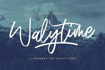 Walytime (Most Popular Script Fonts)