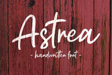 Astrea (Popular Handwritten Script Fonts)