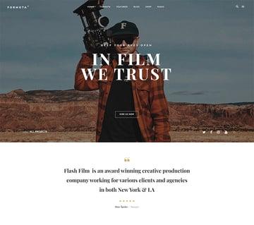 Formota - Movie Studios  Filmmakers WordPress theme