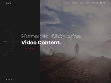 Mato - Movie Studios and Filmmakers WordPress Theme
