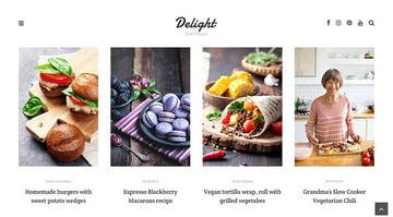 Delight - Food Blog WordPress Theme