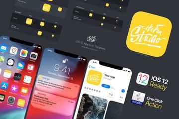 iOS 12 App Icon Template