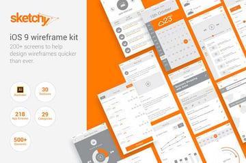 Sketchy - iOS Wireframe Kit