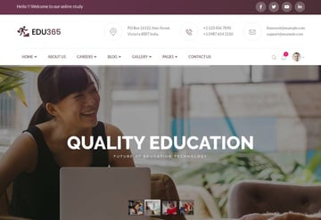 Edu365 | University HTML Template