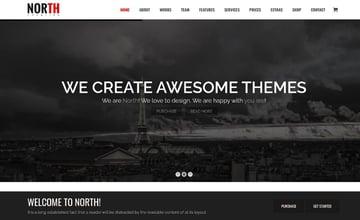 North - One Page Parallax WordPress Theme