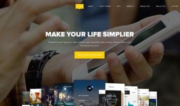 Omni   One Page App WordPress Theme