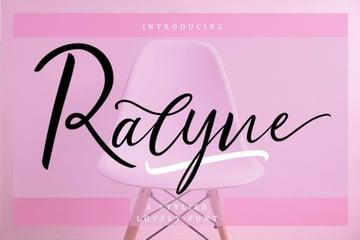 Ralyne Beautiful Cursive Script Font