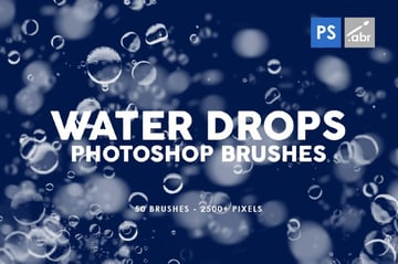Water Drop Photoshop Brush Set