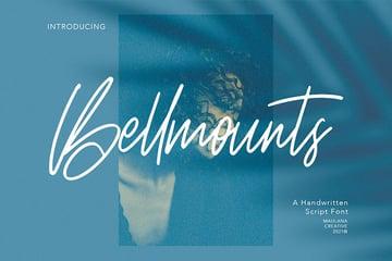 Bellmounts: Handwritten Script Font (OTF, TTF)