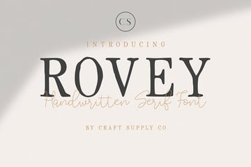 Rovey: Handwritten Serif Font