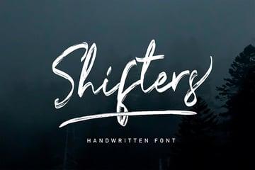 Shifters: Handwritten Marker Font (OTF, TTF, WOFF)