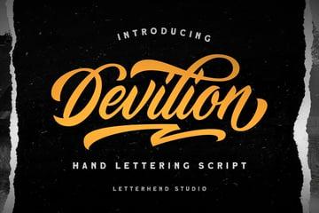 Devilion - Hand Lettering Script (OTF, TTF, WOFF)