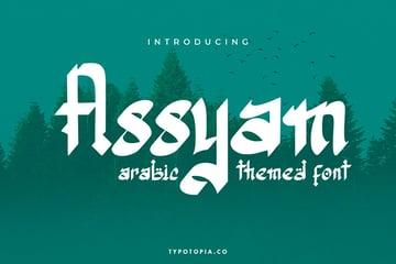 Assyam: Arab Brushstroke Font (OTF, TTF, WOFF)