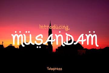 Musandam: Modern Arabic Font (OTF, TTF, WOFF)