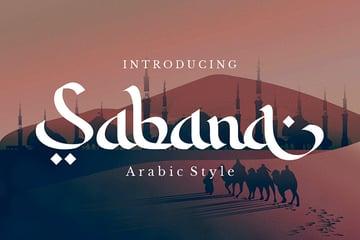 Sabana: Elegant Arabic Style Font (OTF, TTF, WOFF)