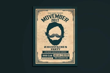 Movember Event Flyer (PSD)