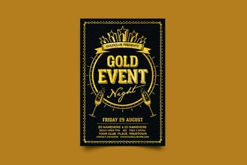 This post is packed with awesome flyer design ideas and event flyer templates like this.