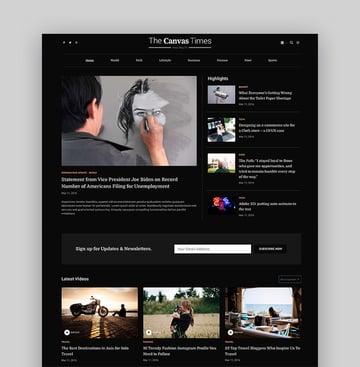 Canvas - The Multipurpose HTML5 Template