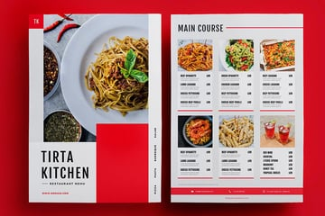 See how this restaurant menu template applies these useful design tips.
