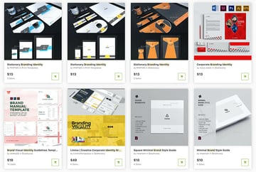 Check out the new brand identity templates available to buy one at a time from GraphicRiver.