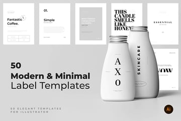 Minimal Typography Product Label Templates From Envato Elements