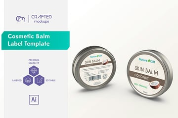 Skin Care Label Templates with Minimal Design From Envato Elements.