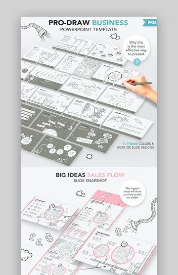 Pro-Draw Business Pitch PowerPoint Template