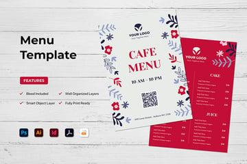 Restaurant Menu Template (AI, EPS, PDF, INDD, PSD)