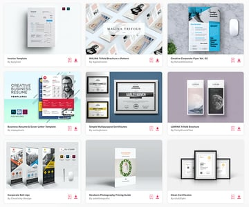 Enjoy unlimited downloads of the best print templates with an Envato Elements subscription.