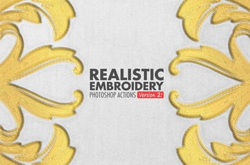 Realistic Embroidery - Photoshop Actions
