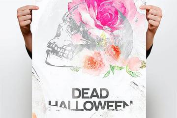 Artistic Halloween Flyer Template (PSD)