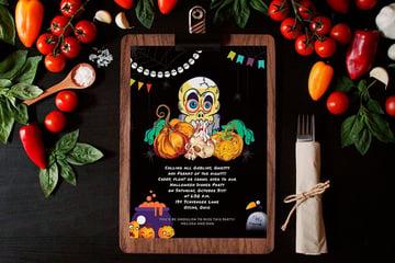 Halloween Dinner Invitation Template (PSD)