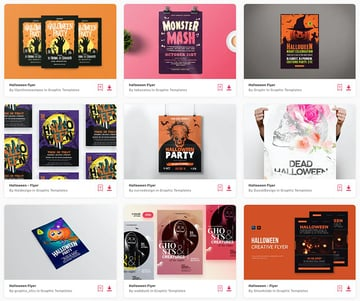 Enjoy unlimited Halloween flyer templates from Envato Elements.